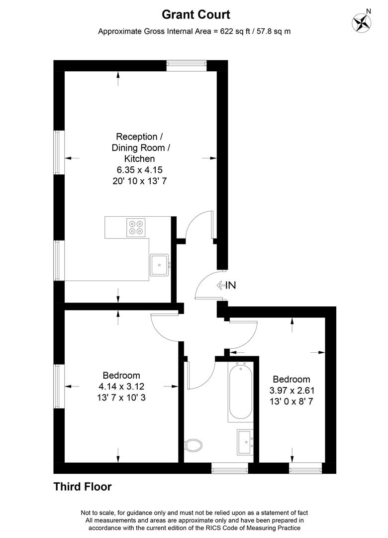 Floorplan for Spencer Hill, Wimbledon